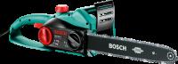 A   Bosch Ake 40S láncfűrész   nagy teljesítményű  1800 wattos motorral   működik. A   fűrészlap hossza 400 mm  . A precíz fűrészelést aza  cél láncfeszítőkkel ellátott,   minőségi krómlánc   biztosítja. Azoptimális vágásteljesítményt a  9 m/s láncsebesség   teszi lehetővé. A  Bosch  SDS-rendszere nyújt segítséget aa lánc  szerszám nélküli, könnyen elvégezhető cseréjéhez és megfeszítéséhez. A 200 ml űrtartalmú   szintjelzős olajtank   biztosítja a  láncfűrész  automatikus kenését. A Quick Stop rendszerű, gyorsan reagáló visszacsapó fék a biztonságos munkavégzést segíti elő. Ergonomikusan kialakított formával és acélkarmokkal a stabil tartásért.A   Bosch Ake 40S láncfűrész   kis súlya mindössze 4,1 kg és egyszerű kezelhetősége miatt ideális partnera különböző munkálatokpl:  vágások és fadöntés   alkalmával is.