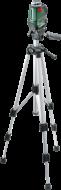 A Bosch PLL önszintező vonallézerrel tökéletesen szintezett függőleges és vízszintes 360°-os vonal bocsátható ki, ezeken kívül átlós vonalak kivetítése a rögzítőfunkciónak köszönhetően bármely szögben, így lehetővé válik a tárgyak pontos és hibátlan elhelyezése az egész helyiségben. Automatikus önszintezés néhány másodperc alatt. Precíz és jól látható lézervonal, amely egyszerűen beállítható bármely magasságban, az univerzális tartó segítségével. 4 db 1,5 V-os LR6 (AA) elemmel működik. Praktikus védőtáskában,1,5 m-es alumínium állvánnyalszállítva. A készülék kiválóan használható nemcsak a munkahelyeken hanem a barkácsolóknak, lakásfelújítóknak is.