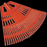 A   Muta   Lombseprű  műanyag , nagyméretű kivitelben készült a gyors és hatékony munkavégzés érdekében. Íves kialakítása által a nehezen hozzáférhető helyeken is könnyedén dolgozhat. Kiválóan használható a pázsit tisztítására, szellőztetésére és nagyobb felületek elsimítására. Nyél nélkül szállítva.