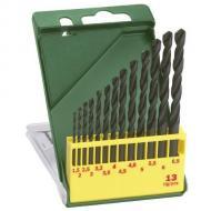 A  Bosch HSS-R  fémfúró  készlet  tartalma: Ø 1,5/ 2/ 2,5/ 3/ 3,2/ 3,5/ 4/ 4,5/ 4,8/ 5/ 5,5/ 6/ 6,5 mm-es fúrószár. Praktikus műanyag dobozban.     Alkalmas ötvözött és ötvözetlen acélhoz 900 N/mm² szakítószilárdságig, nemvasfémhez, szürkeöntvényhez, kemény műanyaghoz.     A melegen történő alakítás nagyfokú rugalmasságot biztosít. Csekély a törésveszély, különösen a 6 mm-es átmérőnél kisebb fúrásnál. Oxidbevonatos spirálhoronnyal a gyors forgácskihordás érdekében. Hosszú élettartammal rendelkezik a robusztus magvastagság és a munkatartomány keménysége által. N típusú jobbravágó spirálfúrók, 118°-os fúrócsúcs, átmérőtűrés: h 8, Görgőshengerlésű spirál köszörült éllel, vízgőzben megeresztve, A befogószár megfelel a furatátmérőnek, a fúrószár színe: fekete, Két vágóélű fúró, hengeres, kétspirálú.    Megjegyzés: A HSS-R fémfúrókkal történő munkavégzésnél használjon univerzális vágóolajat.