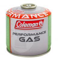Coleman Performance 300  gázpatron  . Szelepe csavaros kialakítású. Könnyű csomagolni és szállítani. Az összes Coleman visszazárható készülékkel kompatibilis. A gázpatron önzáródó  biztonsági szeleppel  rendelkezik.    9 cm magas, átmérője 10,5 cm. Tartalma 240 g.  A  gázpatron  használható Coleman® F1 Spirit, Lite, Power, FyreStrom, FyreLite, FyrePower gázfőzökhöz és Coleman® F1 Lite gázlámpához.