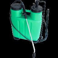 Garden Pro     háti   permetező   űrtartalma 16 liter. A permetező elengedhetetlen kellék minden gondos kerttulajdonos számára.A  háti      permetezőt    kizárólag vízben oldódó anyagokkal lehet használni, növények gondozása céljából (gyomirtás,rovarirtás,gombaölés, növények táplálása növénytápláló szerekkel). A permetező fúvókája rézből készült. A termék oldalán található mérce a pontos adagolást segíti elő.   A 2-3 bar üzemi nyomáson működtetett    háti      permetező      segítségével, percenként 0,45-0,6 liter folyadékot tudunk a növényekre juttatni. A sárgaréz fúvóka mérete 1,25 mm.   A    háti      permetezőt      5-35 °C hőmérsékleti tartományban tudjuk használni.   Az állítható szövet vállheveder segítségével könnyedén hordozhatjuk.