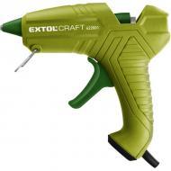 Az   Extol  Craft  melegragasztó pisztoly  40 W- os , 230 V /50 Hz tápfeszültségről képes működni. Névleges üzemi teljesítménye 40 W, de rövid időre maximum 100 W-ot is elérheti. Körülbelül 5-7 perc alatt melegszik fel a  ragasztópisztoly  200 C- ra. A ragasztóstift átmérője 11,2 mm, amelyből 2 db-ot tartalmaz a csomagolás.    Használatát főként a háztáji jellegű munkákhoz ajánljuk, fa, papír, üveg, kerámia ragasztásához. Ipari jellegű munkavégzésre nem alkalmas.