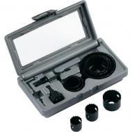 Bosch körkivágó készlet fához, tartalma :     - 8 db fűrész Ø 22/25/29/35/38/44/51/68   mm   - Adapter SW 8  - Adapter SW 6.3 mm (1/4