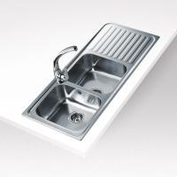 Teka Classic 2B 1D mosogatótál , (10119023) . Rozsdamentes acélból készült. 2 medencével és 1 csepptálcával rendelkezik. Hagyományos, ráépíthető, megfordítható.  3 ½