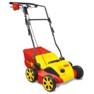  A   Wolf-Garten        gyepszellőztető Ambition VA346E   elektromos hasznos kisgép a gyepesített kertek gondozásához. Alkalmazásával elkerülhető a gyep filcesedése,ezáltala gombák és mohák túlszaporodása is.   A   Wolf-Garten    gyepszellőztető  a rúgós késekkel függőleges bemetszéseket ejt a gyepen, ezzel biztosítja annak szellőztetését. A kis súlyú gépet az 1000m  ²-nél kisebb kertekhez ajánljuk. Az acél ház a nagyméretű kerekek és az összecsukható fogantyú a szállítást teszi könnyebbé. A gép a 3in1 rendszernek köszönhetően egyaránt alkalmas lazításra, szellőztetésre és gyűjtésre.
