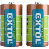 Az   Extol   elem készlet  1,5 V, LR14, 2 db (42014)  hosszú élettartamú,  Alkaline Ultra+  általános felhasználásra.Mérete  C ,  LR14 .