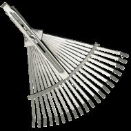 A   Muta   lombseprű , állítható  kivitelben készült, szélessége a használandó terület méretéhez igazítható.A lombseprű szélessége összecsukott állapotban 320 mm, kinyitott állapotban 470 mm.A lemez lombseprű kiválóan használható a pázsit tisztítására, lazítására, szellőztetésére, valamint kis felületek elsimítására. Nyél nélkül szállítjuk.