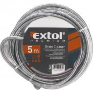 Az Extol Premium   lefolyócső tisztító   hossza 5 méter, átmérője 9 mm.   Kézi tekerővel és  tisztító körömmel   felszerelt, amely  1,9 mm drótból sodort  .   A   lefolyócső tisztító   krómozott felülete, lehetővé teszi a spirál nagyobb fokú ellenállását az agresszív anyagokkal szemben.    A   lefolyócső tisztító segítségével könnyedén és egyszerűen megszüntethetők lakásában a kisebb, nagyobb dugulások a fürdőkádban, mosogatóban, mosdóban vagy zuhanykabinban.