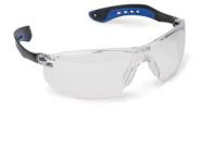 A  Slimlux  védőszemüveg , víztiszta (62650)  polikarbonát kerettel, rugalmas és könnyű PC/TPE szárral ellátott, valamint csúszásbiztos orrnyereggel felszerelt. A karcmentes polikarbonát  lencse 1,8 mm vastag  anyagból készült és extrém hőmérsékletben is kiválóan használható.   A fényszűrő osztály: 0.    Eu szabvány: EN166, EN170
