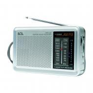 SAL  táskarádió  (RPR 2B) . A készülék egy 2 sávos AM-FM rádió, mely kiváló hangminőséget nyújt. Szélessége 15,5 cm, magassága 10 cm, míg hossza 4,5 cm. A  rádió  tápellátásáért 2 x D/LR20 (1,5 V) elem felel, melyek nem járnak tartozékként a termékhez. Csatornakeresője extra nagy érzékenységű. LED üzemmód jelzővel és 3,5 mm átmérőjű  fejhallgató  csatlakozóval is rendelkezik.