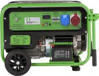Greengear gázüzemű  áramfejlesztő  GE-7000T . A készülék névleges teljesítménye 7,0 kW, maximálisan kiadott teljesítménye 7,5 kW. Névleges áramerőssége 30 A, frekvenciája 50 Hz.    Motorja egy GG6GN modell, melynek típusa: OHV, 25° dőlés, 4 löket, kényszerléghűtés, egy munkahenger.  A generátor  elektromos indítású , LPG/Propán tüzelőanyaggal üzemel.    Az LPG bemenet nyomástartománya 1,0 - 2,5 bar. Feszültsége 230 V. A készülék furat x lökethossza 92x66 mm, elmozdulása 420 cc, kompresszióaránya 9,0:1. Begyújtás típusa T.C.I.    Az  áramfejlesztő  olajtérfogata 1,1 liter. LPG/Propán technológiája ENERKIT BASIC. Fogyasztása (g/kWh): >318.