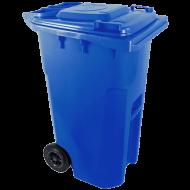 A  kék  színű  háztartási szemetes kuka  űrtartalma  240 liter . Magassága 1050 mm, szélessége 580 mm, hossza 730 mm. A szemetes kuka CE szabvánnyal ellátott. A háztartási szemetes kuka könnyű helyváltoztatását elősegíti a 2 darab tömör  kerék . Gépi ürítésre alkalmas. Terhelhetősége max 110 kg.     Így is ismerheti: kerekes hulladéktároló, szemetes kuka    A  háztartási szemetes kuka  forró folyadék vagy hamu tárolására nem használható.