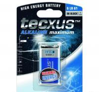 Tecxus  alkáli elem , 9 V (TC 6LR61) . Számtalan termék tápellátását biztosítja, mint távirányítók, játékok, MP3/MP4 lejátszók, elemlámpák, CO/Gáz érzékelők. Mérete 6LR61, feszültsége 9 V. A csomagolásban 1 db  elem  található.