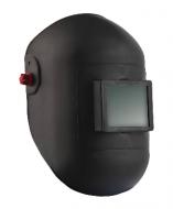A  Hegesztő  fejpajzs  hőálló üvegszálas kompozit kivitelű, amely ívhegesztéshez használatos. Alaktartó, törésbiztos anyagból készült, gömbölyített, felhajtható pajzstesttel. A fejkosár állítható magasságú és bőségű racsnis. A látómező mérete 90 x 110 mm    Eu szabvány: EN175, EN166    A fejpajzsot üveg nélkül szállítjuk!