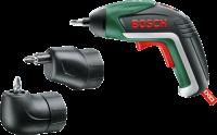 A   Bosch  IXO V lítium-ion  akkus csavarhúzó   az eredeti lítium-ionos technológiának köszönhetően a készülék mindig használatra kész, nincs memóriaeffektus, nincs önkisülés. Az ergonomikus kialakítás által több fogási helyzetet is lehetővé tesz. A nehezen hozzáférhető helyeken a  sarokadapter  megkönnyíti a használó dolgát. A termék plusz tartozéka az  excenteradapter , amellyel a perem közeli csavarozási munkák könnyedén végezhetőek. Beépített  Power LED- lámpakoncepció val rendelkezik, amely állítható, így választhat a pontszerű és a szórt fény között. Innovatív LED-es töltési állapot kijelzőnek segítségével információt kapunk az akkumulátor töltöttségi szintjéről. A csavarok kézi meghúzásához vagy kilazításához automatikus tengelyreteszelés funkcióval rendelkezik. A biztosabb és kényelmesebb fogás érdekében a markolat Softgrip gumimarkolat.  A gyors feltöltést a  MicroUSB- töltő  garantálja.    Az  akkus csavarhúzó hoz tartozékként szállítjuk a MicroUSB- töltőt, a sarokadaptert, az excenteradaptert és a 10 szabványos csavarozóbitet.