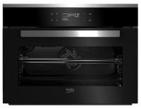 A  Beko BCS-18500 X  beépíthető sütő   inox felületű és üveg előlappal ellátott. Az A energiaosztályba tartozik. Sütőtere  48 liter  űrtartalmú. Használatkor 15 program közül választhat. A sütő 44,5 cm magas, 59,4 cm széles, valamint 54,7 cm magas. Full Touch control érintős vezérlésének, LCD kijelzőjének és digitális programozásának köszönhetően egyszerű kezelni.     A  sütő  többek között 3D sütés, pizza, gőzsütés és gőztisztítás, Booster programokkal rendelkezik. További hasznos tulajdonságai, funkciói közé tartozik a display zár, gyermekzár, belső világítás, panelhűtő ventilátor, valamint a kihúzható sütősín.