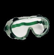 A Chimilux gumipántos védőszemüveg páramentes lencsével (2-1,2 1BN), 4 indirekt ventilációs szellőzővel, por és folyadékok elleni védelemmel ellátott kerettel (3.4B) készült. A keret anyaga lágy PVC, a lencse anyaga víztiszta, vegyszerálló polikarbonát, B fokozatú, erősített mechanikai védelemmel, UV szűrővel,karcmentes éspáramentes bevonattal. A védőszemüveg rögzítése állítható gumipánttal történik. A kényelmes használatot elősegíti a kis súly és a rugalmas orrnyereg alkalmazása. Zöld-átlátszó színben.