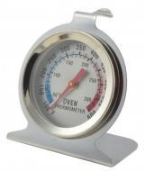 A   Sütőhőmérő  rozsdamentes acél  anyagból készült és üveg előlappal ellátott. Szélessége 75 mm, magassága 90 mm. Mérési tartománya 50-300°C között. Minden sütőtípusban használható, KIVÉVE a mikrohullámú sütőkben. A sütő sima felületére vagy oldalrúdra akasztható, úgy, hogy a számlap jól látható legyen. A  hőmérőt  csak akkor vegye ki a sütőből, ha már lehűlt, így elkerülhető a sérülés. Tisztítsa semleges mosogatószeres vízzel. Mosogatógépben nem mosható!