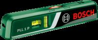 A Bosch PLL 1 P  lézeres vízmérték  használhatólézeres szintezőként és hagyományos vízmértékként is. Kiválasztható a lézerfunkció,a készülék vízszintes, függőleges vagy átlós lézervonalakat bocsát ki, illetve pontlézeramely pontosan továbbítja a tér magasságait. A vízmérték kiváló minőségű, világos lézerdiódákkal felszerelve, amelyek különösen jól látható lézervonalat és lézerpontot eredményeznek. Kényelmes munkavégzés minden felületen a rugalmas fali tartó segítségével, mellyel a lézer pontosan beállítható. Lézervonal esetében max. 5 méter, lézerpontnál max. 20 méter a munkaterület. A  lejtésmérő  könnyen és egyszerűen kezelhető és szállítható, akár zsebben is elfér. 2 db1,5 V LR03 (AAA) elemmel működik.Nemcsak különböző munkahelyeken pl: építőiparban, hanem a barkácsolók, lakásfelújítók számára is nagyon jól használható termék.