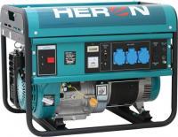   A   Heron   benzinmotoros áramfejlesztő   hasznos eszköz lehet Ön számára a közepes teljesítményű, egy fázisú elektromos fogyasztók áramellátására.Használhatjapéldául hűtőkészülékek, kisebb teljesítményű szellőztető ventilátorok, automatizált berendezések, szünetmentes tápegységek vészhelyzeti energiaellátására.    A  Heron   benzinmotoros áramfejlesztő  dug aljakon keresztül csatlakozik a hálózathoz és a fogyasztókhoz. Így könnyen eltávolíthatja az áramkörből és hagyományos, hordozható áramfejlesztőként használhatja. Az áramfejlesztő segítségével, 230 V tápfeszültséggel működő és max. 4,0 kW teljesítményfelvételű hegesztő invertereket, valamint 230 V tápfeszültséggel működő és max. 4,5 kW teljesítményfelvételű egyéb hegesztő gépeket is elláthat elektromos árammal.    A benzinmotoros áramfejlesztő  AVR egységgel van ellátva, így veszély nélkül használhatja kényes elektronikával rendelkező fogyasztókhoz is (pl. televízió, számítógép stb).    Az  áramfejlesztő  négyütemű benzinmotorja óránként 1.2-1.5 liter/óra üzemanyagot fogyaszt, de nagyméretű üzemanyagtartálya (25 liter) akár 15 órás folyamatos üzemelést tesz lehetővé.    A  Heron   benzinmotoros áramfejlesztő  előnyei:      - Hosszú üzemidő egy feltöltéssel.      - Beépített üzemóra számláló a karbantartás ütemezéséhez.      - Feszültség stabilitás az AVR rendszernek köszönhetően.      - Beépített üzemanyagszint mérő      - Beépített feszültségmérő.      - Bekapcsolási és visszakapcsolási késleltetés.      - Automatikus töltőberendezés a beépített akkumulátor töltésére.      - Beépített túlterhelésvédő.      - Beépített olajszint érzékelő a motor védelmére.      - Előre programozott telefonszámokra küld üzenetet az üzemelés változásról.