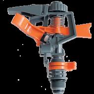 A    Muta  szektorálható műanyag öntözőfej  ,  esőztető  hasznos eszköz a ház körüli öntözéskor.  A locsolófej műanyagbólkészült, ami egy leszúrható műanyag aljzatra van szerelve. Az  aljzaton egy darab 1/2