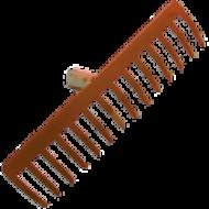 Az   erősített lemez gereblye 14 fogú, nyelezett  . Az ergonomikus fa nyél 1350 mm hosszú, így könnyedén és görnyedés mentesen dolgozhat. Kiválóan alkalmas nagyobb kertek, talaj megmunkálására, karbantartására. A 350 mm széles lemez gereblye fej segítségével gyors és hatékony a munkavégzés.