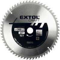 Extol  Craft keményfémlapkás  körfűrészlap 300 x 30 mm (19116) . Fához, faalapú anyagok  fűrészelésére használható. Edzett hidegen sajtolt acélból készült. A  fűrészlap  maximális fordulatszáma 5000 ford/perc. T60, lapszélessége 3,3 mm.