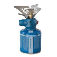 Campingaz  Twister Plus PZ  gázfőző  + CV 300 gázpalack . Piezo gyújtással, gyújtóeszköz segítsége nélkül is begyújtható. Easy-Clic Plus csatlakozó, széles karok jellemzik. Állítható teljesítmény, gázmennyiség. Teljesítménye 2900 W.     A gázfőző 1 liter vizet, 3 perc 45 mp alatt forral fel. Tartozék összehajtható védőtokkal. Méretei: 11 x 8 x 17 cm. A gázpatron működési ideje 1 óra 10 p.