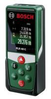 Bosch  PLR 40 C lézeres  távolságmérő  (0603672320) . Lézertechnológiával szakaszok és távolságok megbízható és pontos mérésére alkalmas  40 m-ig . A mérési eredmények gyors és kényelmes dokumentálása, Bluetooth®-on keresztül a   Bosch  PLR measure&go  alkalmazással.     Kiváló minőségű, színes érintő-képernyővel elállott távolságmérő. A beépített dőlésszögmérő lehetővé teszi a dőlés precíz mérését és az objektumok szintezését. Kikapcsolási automatikája  5 percre  állítva.    A  távolságmérő  tartozéka a működéséhez szükséges   2 x 1,5-V-LR03 (AAA) .
