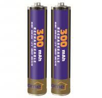 Home akkumulátor , AAA, 300 mAh, Ni-Mh, 2 db (M 300AAA/2)  alkalmas számtalan termék tápellátására, mint távirányítók, játékok, MP3/MP4 lejátszók, elemlámpák, CO/Gáz érzékelők, napelemes lámpák.    Az  akkumulátor  mérete  ceruza (AAA) , feszültsége  1,2 V , teljesítménye  300 mAh . A csomagolásban  2 db elem található .