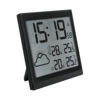 Home  időjárás állomás  külső jeladóval HCW 24 . A készülék szimbólumok segítségével megjeleníti a várható időjárást. Elhelyezheti asztalon, de falra is felszerelheti. Az időjárás jeladó megjeleníti a minimum és maximum értékeket, külső és belső páratartalmat.  Hatótávolsága  maximum  50 méter . DCF77 rádió jellel vezérelt óra.  12/24 időformátum ot jelenít meg. A külső jeladó frekvenciája 433,92 MHz. Ébresztőóra funkcióval felszerelt időjárás állomás.     Az  időjárás  előrejelző tápellátásáért 6 x (AA) elemek felelnek, melyek nem járnak tartozékként a termékhez.   A külső jeladó méretei 65 x 100 x 35 mm.   A beltéri egység mérete 224 x 224 x 23 mm.