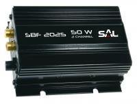 A  SAL SBF 2025 univerzális  autós erősítő   kimenőteljesítménye 2 x 25 W (4 Ohm).  Három féle hangváltó üzemmód : mély, mélyközép + magas és szélessávú hangszórókhoz. Az  erősítő  könnyű kezelhetőségéről a hangerő szabályzó és a visszajelző led gondoskodik.  Aranyozott RCA csatlakozóaljzatokkal . Háromféle tartozék csatlakozókebellel.