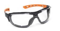 A  Spiderlux  védőszemüveg , víztiszta (60990)  fekete polikarbonát kerettel, rugalmas és könnyű PC/TPE szárral ellátott, amelyet igény szerint könnyedén lecserélhet gumipántra, így kombinálhatja a fej- vagy hallásvédőkkel. Csúszásbiztos orrnyereggel felszerelt, valamint a szemüveg szivacsbetét része kivehető. A védőszemüveg teljesen fémmentes kiképzésű. A polikarbonát lencse 1,8 mm vastag, páramentes és extrém hőmérsékleten is használható.   Fényszűrő osztály: 0.    EU szabvány: E166, EN170.