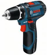 Bosch GSR 12 V-15 LI Professional a kategória legrövidebb készüléke, szűk helyen illetve fej fölött történő használata kategóriájában a legkitűnőbb.    2 sebességfokozatú hajtóművel rendelkezik, mely csavarozásnál 7mm-ig, fúrási munkáknál 19 mm-ig gondoskodik a 30 Nm forgatónyomatékról.    A reteszelhető 1/4