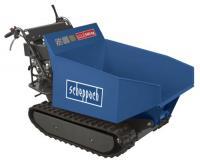 Scheppach  hernyótalpas szállítógép (DP 5000)  hidraulikus billenéssel  és  500 kg-os terheléssel . Nagyon   kényelmes szállítási lehetőséget biztosít, akár  500 kg  súlyú  ömlesztett  és  szilárd   anyagok    áthelyezésére.    Tökéletesen szállítható a  hernyótalpas szállítógép segítségével föld ,  homok ,  kavics ,  kő ,  térburkolat ,  tégla ,  fa  és  fű  is.   Használható  építkezéseknél ,  bontási  és  felújítási   munkáknál ,  mezőgazdaságokban ,  kertészetekben  és    erdészetekben .    A  széles hernyótalp biztosítja, hogy a  szállítógép   kiválóan    irányítható és kezelhető nehezebb terepviszonyok között is, valamint a  hernyótalp  jobban elosztja a  terhelést . A vezetőkaron lévő fogantyúval  könnyen     szabályozható  a menetirány, a kuplungkar felengedésével a fék  automatikusan   aktiválódik  és a    sebességváltó kar , valaminta  hidraulikus emelést segítő kar  is elérhető közelségben található a kezelő személy számára.    A  szállítógép  meghajtását   egy  4 ütemű ,  196 ccm-es ,  OHV ,  Loncin motor  biztosítja, melynek teljesítménye  4,1 kW  és  5,6 lóerő .   Sebességváltója  mechanikus ,  3   előremeneti  és  1   hátrameneti  fokozattal. Előremeneti sebessége, váltó szerint  maximum 1,57-2,93-3,66 km/h , hátrameneti sebessége  1,14 km/h . A plató mérete  950 x 680 x 465 mm ,a  szállítógép  méretei  1600 x 715 x 1030 mm . Súlya  255,5 kg .