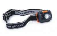 A  Coverguard  fejlámpa  Led égős , amely  150 lumen  fényerővel és maximum 100 m fénysugárral működik. A műanyag házas fejlámpa csúszásbiztos bevonattal ellátott. A burkolat 1 méterig törésbiztos és vízálló. A fejpánt egyénileg állítható. Használati ideje 8 óra, 3 db AAA elemmel.   A  fejlámpa   3 üzemmódban használható: közeli vagy távoli fókuszálás, illetve villogás. A fejlámpa 60 mm széles, 30 mm hosszú és 40 mm magas.    A termék megfelel a 2004/108/EK rendeletnek, illetve az EN 55015: 2013 és az EN 61547: 2009 szabványoknak.