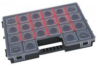 A B300   barkács doboz , rendező  segítségével könnyedén rendezheti műhelye apróbb tartozékait, mint például a csavarokat. Tandembe kapcsolható. A  rendező  28,4 cm széles, 19,2 cm hosszú, valamint 5 cm magas.