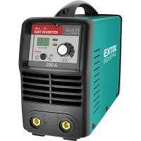 Extol  inverter  hegesztőtrafó  200A, tartozékok nélkül (8796012) . Az Extol Premium inverter hegesztőtrafó hálózati (230V/50Hz) áramról működik. Teljesítménye 5,3 kVA.  Hegesztőáram tartománya 30-160Amper. Üresjárati feszültsége: 76V. Terhelési faktor: 200A/30% 145A/60% 110A/100% Az Extol inverter hegesztőtrafó hatásfoka 85% A hegesztőtrafóhoz használható elektróda méret: 1,6 - 5 mm.     Az  Extol  inverter  hegesztőtrafó  számos tulajdonsága segíti a könnyű munkavégzést:    – Munkafolyamathoz illeszthető, fokozatmentes hegesztési áram állítás.   – Kis méret, könnyű hordozhatóság, a súlya mindössze 8 kg.   – Állítható hosszúságú, széles vállheveder.   – Ventilátoros hűtés a túlmelegedés elkerülése végett.   – Ívstabilizáló funkció (Arc force).   – Letapadás gátló funkció (Anti stricking).   – Ívgyújtás könnyítő funkció (Hot start).    Az  Extol  inverter hegesztőtrafó a szerkezetlakatos munkákhoz, helyszíni javító munkákhoz kiváló készülék.