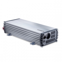 A  Dometic PP2002 PerfectPower trapéz   inverter  12 V egyenfeszültségből, 230 V váltófeszültséget csinál, így akár autójában is használhatja. Az eszközzel nagyobb teljesítményű készülékek is működtethetők, például multifunkcionális irodai gépek. Az  inverter   csúcsteljesítménye 4000 W , tartósan 2000 W. Beépített hálózati prioritás kapcsolóval ellátott, mely automatikusan, de nem szünetmentesen kiiktatja, ha bejövő 230 V-ot észlel, 4 másodperc késleltetéssel lekapcsol, majd 2 másodperc múlva áteresztő üzemmódra vált.  A Dometic  inverter   beépített ki, be és távkapcsolóval  rendelkezik. A bekapcsolt állapotot zöld LED jelzi Önnek. A hálózati bemenet 230 V / 10 A. Hossza közel 45 cm, szélessége majdnem 18 cm, míg magassága 9,5 cm. Bemeneti csatlakozója színjelölt kábelszorító. A hűtésért ventilátor felel.  Bármilyen üzemzavar lép fel, piros LED jelzés fogja figyelmeztetni Önt. Az  inverter   többfajta védelmi funkcióval  rendelkezik. Ilyen funkciók többek között a túlterhelés, valamint rövidzár védelmek. Az akkuőr 11 V tápfeszültség alatt hangjelzéssel figyelmezteti Önt, míg 10,5 V alatt lekapcsol. Ha a bemeneti feszültség 12,2 V fölé emelkedik, akkor automatikusan visszakapcsol. Túlfeszültség védelme 15,5 V felett szintén kikapcsolja a készüléket, míg ez túlmelegedés esetén 80°C felett történik.