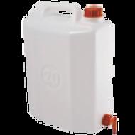 A   kanna csapos 20 L-es  praktikus megoldás ha olyan területen szeretne vizet használni, ahol nincs vezetékes víz, mint például a hétvégi házakban, horgászat során. Az oldalára szerelt csap segítségével engedheti a vizet és el is zárhatja. A  műanyag demizson  élelmiszer és ivóvíz tárolására alkalmas.