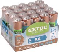 Az  Extol  elem  készlet 1,5 V AA, LR6, amelyből 20 db  található a csomagolásban. Az elem mérete AA, 1,5 V. Az  alkáli elemek  hosszú élettartamot biztosítanak, így a készülékeket, amelyekben elhelyezi huzamosabb ideig használhatja.