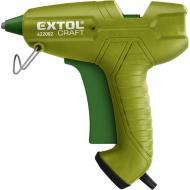Az  Extol Craft  ragasztó pisztoly  65 W- os , 230 V/50 Hz tápfeszültségről képes működni. Teljesítménye 65 W . Körülbelül 5-7 perc alatt melegszik fel a  ragasztópisztoly  200 C-ra. A ragasztóstift átmérője 11 mm, amelyből 2 db- ot tartalmaz a csomagolás.    Használatát főként a háztáji munkákhoz ajánljuk, fa, papír, üveg, kerámia ragasztásához. Ipari jellegű munkavégzésre nem alkalmas.