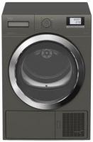 Beko  szárítógép  (DE 8434 RXOM) . Az A++ energiaosztályba tartozik. Nagy LCD kijelzőjének köszönhetően egyszerű használni. 16 program közül választhat.    A szárítógép ruhakapacitása 8 kg. A készülék 85 cm magas, 61 cm széles, 60 cm hosszú. Zajszintje 65 dB(A). Kondenzációs, hőszivattyús technológia jellemzi.    A  szárítógép  további hasznos tulajdonságai: gyermekzár, időprogram, késleltetés, gyűrődésgátló funkció, ciklus végét jelző hang, nagy ezüst ajtó.