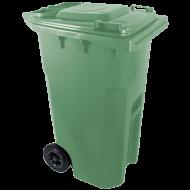 A zöld színű  háztartási szemetes kuka  űrtartalma  240 liter . Magassága 1050 mm, szélessége 580 mm, hossza 730 mm. A szemetes kuka CE szabvánnyal ellátott. A háztartási szemetes kuka könnyű helyváltoztatását elősegíti a 2 darab tömör kerék. Gépi ürítésre alkalmas. Terhelhetősége max 110 kg.     Így is ismerheti: kerekes hulladéktároló, szemetes kuka    A  háztartási szemetes kuka  forró folyadék vagy hamu tárolására nem használható. A zöld szelektív hulladékgyűjtő kuka általánosságban színes üveg és orvosságos üvegek tárolására és gyűjtésére alkalmas!