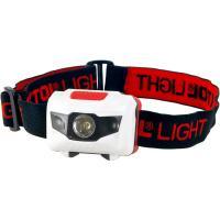 Extol  Light LED  fejlámpa  (43102) . Hatótávolsága 15 méter. ABS műanyagból készült. Egy fehér és 2 piros LED biztosítja a világítást. A  lámpa  fényereje 40 lumen.  3 x 1,5 V (AAA) elemmel működtethető (nem tartozékok).    4 funkció közül választhat:   1W - 100% fehér LED,   1W - 50% fehér LED,   folyamatos 2 piros LED,   villog 2 piros LED.