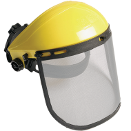 A   védőrács homlokpánttal   egy munkavédelmi eszköz. Ergonomikus kialakításának köszönhetően, az állítható hevederekkel könnyedén beállítható a fejmérethez. A termékhez egyszerűen csatlakoztatható az arcvédő védőrács.