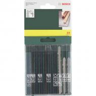 A Bosch 10 db-os  szúrófűrészlap -készlet  használható fa és fém megmunkálásához, T befogású. A készlet tartalma :1 x TE 118 A, 1 x TE 118 B, 1 x TE 127 D, 2 x TE 111 C, 1 x TE 111 H, 2 x TE 111 D, 1 x TE 119 BO, 1 x TE 101 B szúrófűrészlap.     Praktikus műanyag dobozban szállítva.    Strapabíró szerszámok, hosszú élettartamra tervezve. A készleteket és kiegészítőket profi felhasználásra készítették a gyorsasági, ergonómiai, gazdaságossági, pontossági követelményeknek megfelelően.