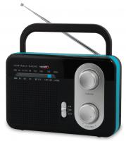 A  Hauser TR-9203 B hordozható  táskarádiót   nem csak otthonában, hanem a kertben és kempingezések, valamint nyaralások alkalmával is magával viheti és hallgathatja kedvenc rádióműsorát vagy zenéjét.     Teleszkópos antennája  AM/FM hullámsáv befogására képes:  AM 530-1600 KHz ,  FM 87,5-108MHz  rádió. A  táskarádió   hálózatról  és  elemmel  egyaránt működik.  Dinamikus hangszórójának  kellemes hangzású, de  fülhallgatót  is csatlakoztathat hozzá.