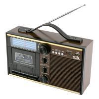 SAL retro  kazettás rádió  (RRT 11B) . 11 sávos AM-FM-SW készülék. 28 cm széles, 17 cm magas, 10 cm hosszú.Régi magnókazettáit MP3 formátumban digitalizálhatja USB, SD eszközre. MP3, WMA lejátszásra  is képes.    Rögzítheti továbbá a beépített rádió vagy mikrofon hangját, illetve minden elérhető jelforrást felvehet kazettára vagy USB, SD eszközökre. A rádió finomhangoló kettős forgatógombbal, beépített  mikrofonnal, 3,5 mm-es fejhallgató csatlakozóval,kazettás magnó felvétel és auto-stop funkcióval  rendelkezik.    A retro  rádió  tápellátása megoldható a tartozék hálózati kábellel, vagy 4xD/LR20 (1,5 V) elemmel (nem tartozék), vagy 6 V-os külső adapterrel (nem tartozék).